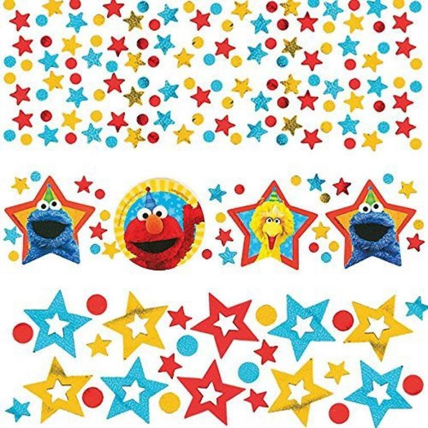 Sesame Street 'Stars' Confetti Value Pack (3 types) - 'Stars
