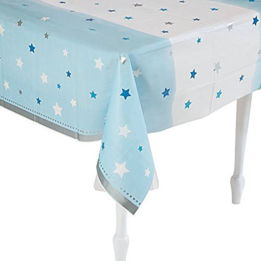 Fun Express One Little Star Boy Reusable Plastic Tablecloth Party