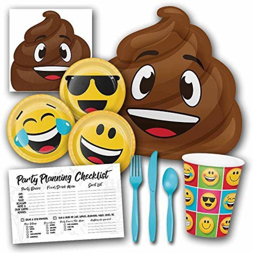 Honey Dew Gifts Poop Emoji Theme Birthday Party Supplies Set