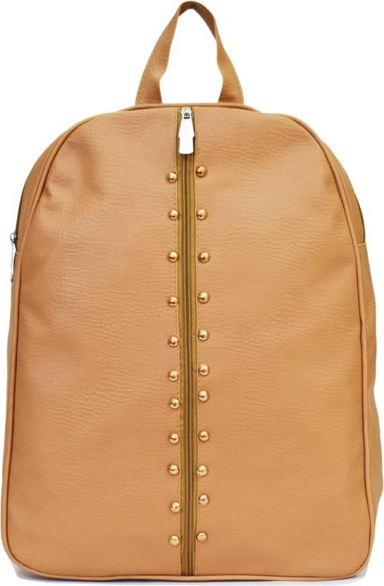 229e0539f1c8 SPLICE PU Leather Backpack School Bag Student Backpack Women Travel bag 6 L  Backpack