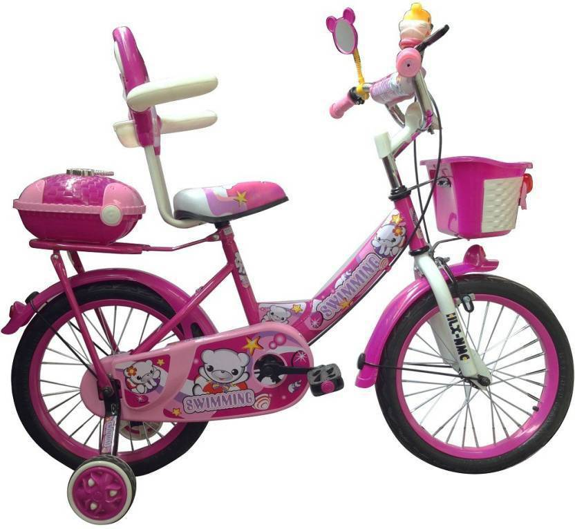 0dd2401f054 HLX-NMC KIDS BICYCLE 16 BOWTIE PINK WHITE 16 T Recreation Cycle (Single  Speed
