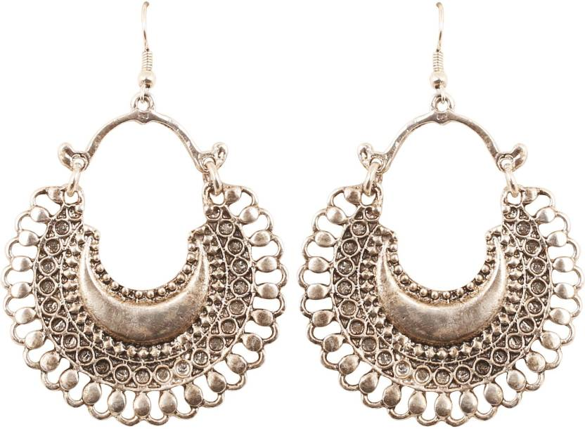 053263f1f Touchstone Touchstone Indian Bollywood Bahubali Inspired Chaand Baali Moon  Theme Designer Jewelry Chandelier Earrings In Oxidized