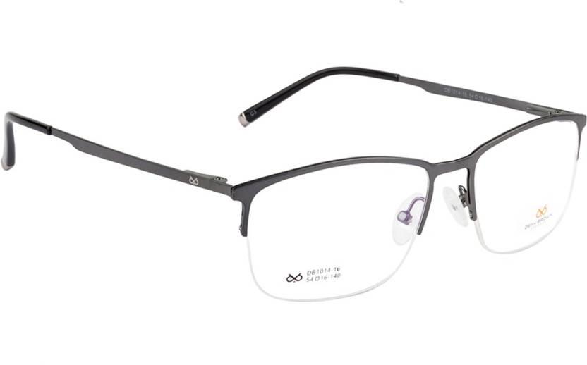 dd7e97d85a8 DENY BROWN Half Rim Square Frame Price in India - Buy DENY BROWN ...