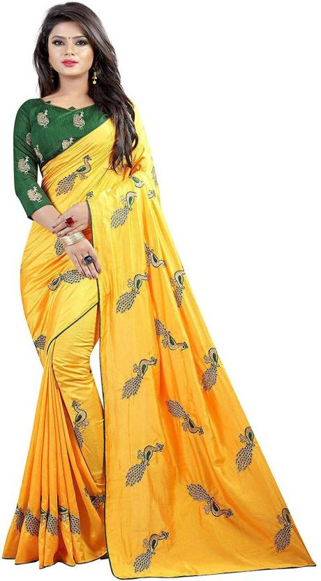 e696526e5466 Buy jashvicreation Embroidered Mysore Silk Yellow Sarees Online ...