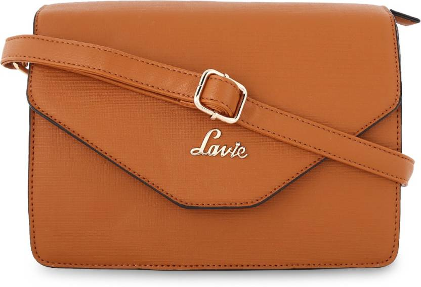 89809aa0a70 Lavie Women Evening Party Brown Leatherette Sling Bag Brown - Price in India