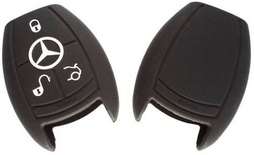 Jadebin Silicone Smart Key Cover for Mercedes Benz 3 Button Smart
