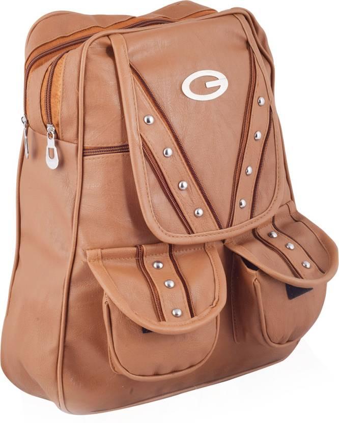 Crysta Fashion Girls and Women Backpack Pithu Bag CF-810 Backpack (Brown 6ee63aefa24bc