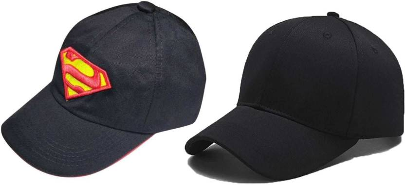 eac345d04d Bezal Combo Awesome Look Black   Black Cotton Baseball Cap - Buy ...