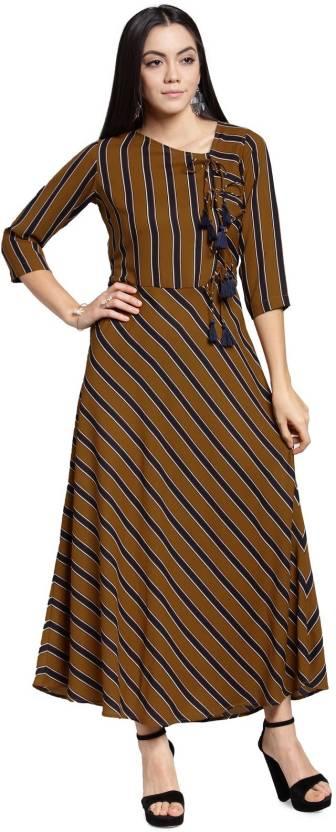 b887248618 Pluss Women s Maxi Brown Dress - Buy Pluss Women s Maxi Brown Dress ...