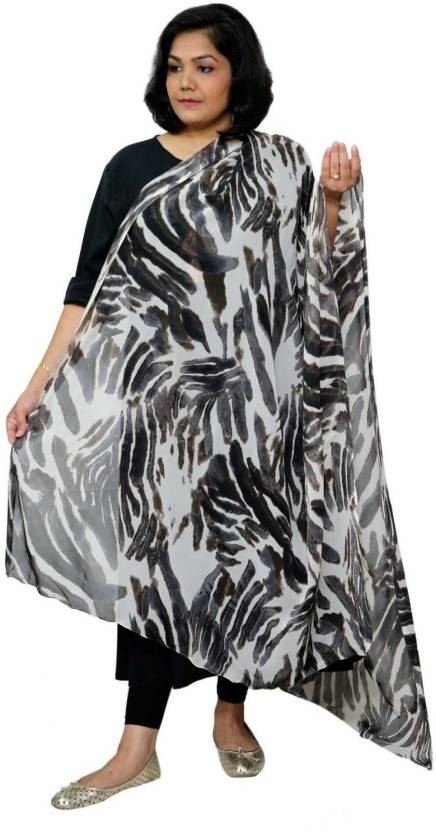 0baae4dc5a7c Grace Diva Faux Georgette Animal Print Women s Dupatta - Buy Grace Diva  Faux Georgette Animal Print Women s Dupatta Online at Best Prices in India  ...