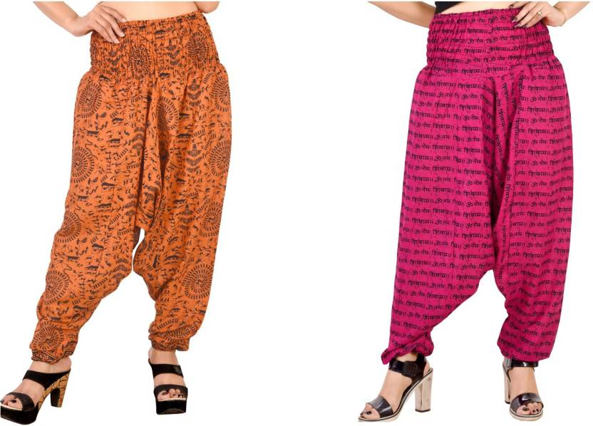 d59dd1f7f7a1e FusFus Printed Cotton, Rayon Women Harem Pants - Buy FusFus Printed ...