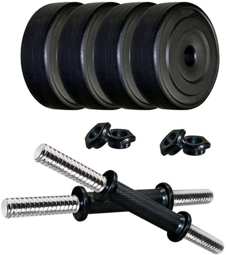 62d176f4172 Protoner PVC Adjustable Dumbbells Set (8 Kg) Home Gym Combo Price in ...