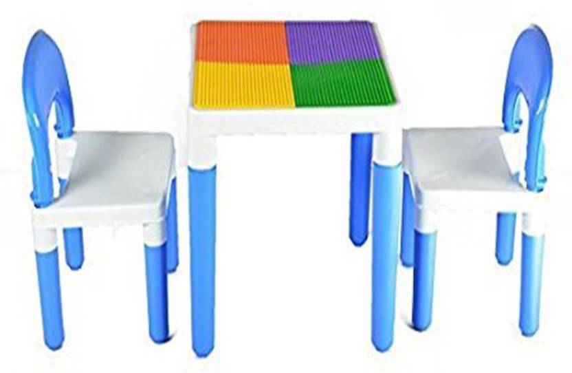Oximus Baby Table Chair Set For Kids Use Study Dinning Two One