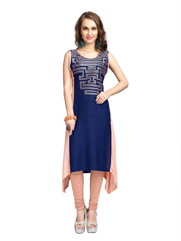 4c494f2d Elevate Women Women's Embroidered High Low Kurta - Buy Blue, Light ...