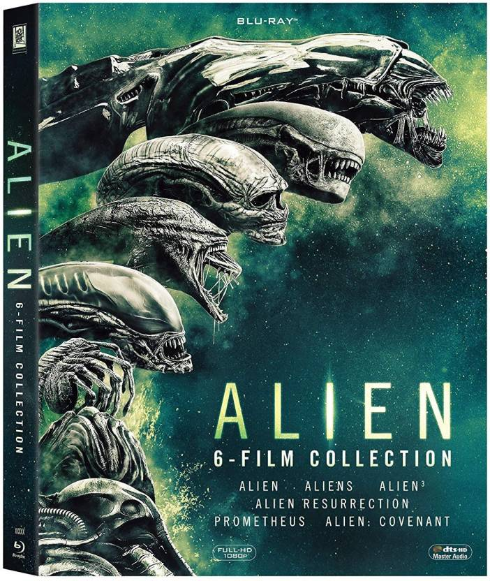 999f7294796b Alien 1 to 6  Alien + Aliens + Alien 3 + Alien Resurrection + Prometheus +  Alien  Covenant (Blu-ray English)