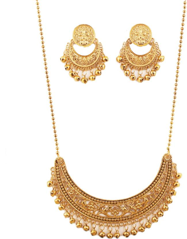 4dbf773249 Touchstone Touchstone Indian Bollywood Masterly Created Traditional  Crescent Half Moon Theme Filligree Work Long Artistic Designer Jewelry  Necklace Set ...