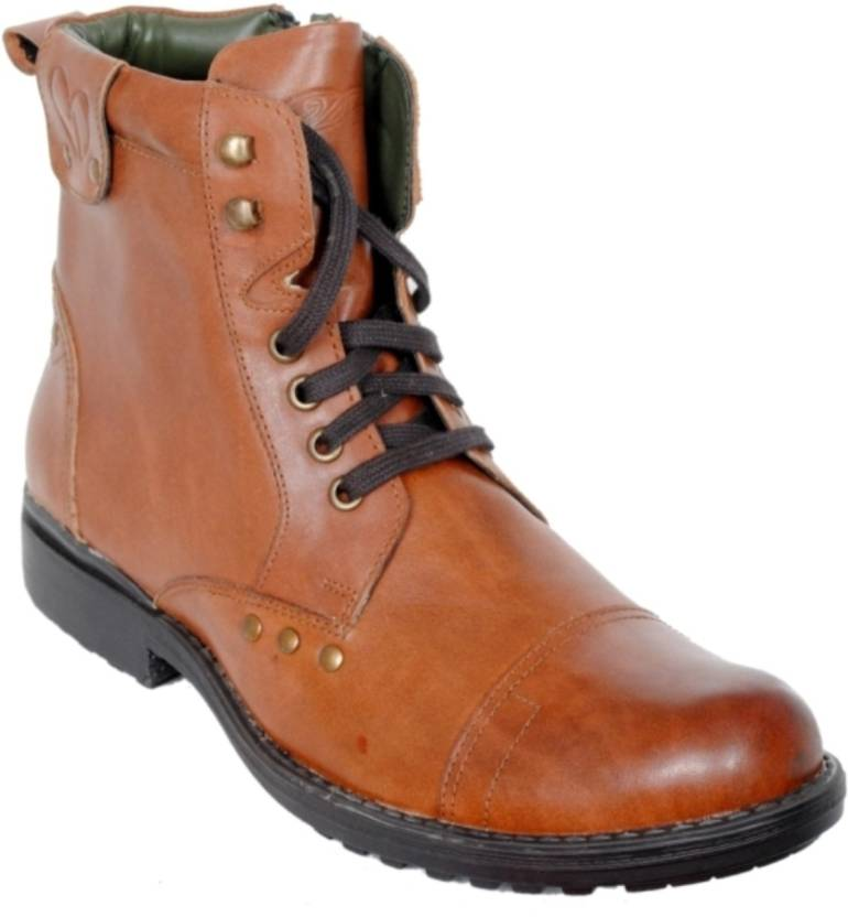43b5b6f24b0 Delize Synthetic Boots For Men - Buy TAN Color Delize Synthetic ...