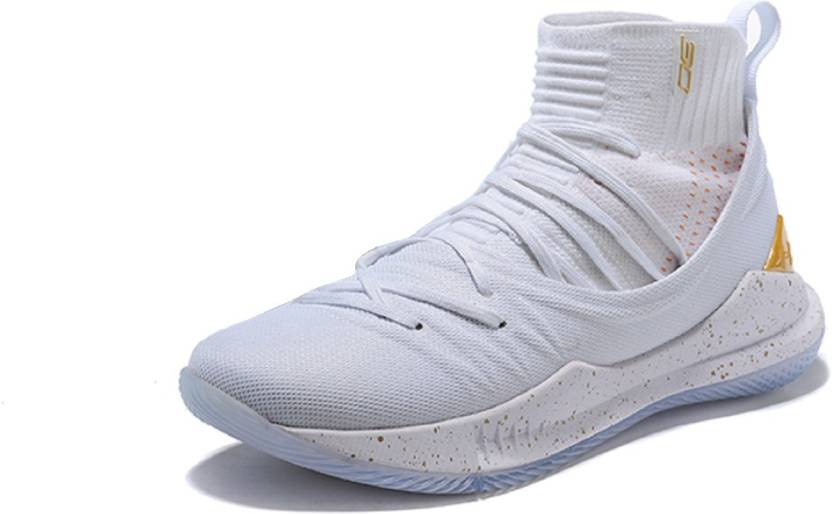 reputable site 016b9 05623 the Under armour UA Curry 5 White Basketball Shoes For Men - Buy the ...