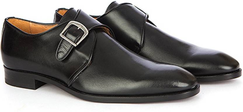 298f668df3dcc Vittore Men' s Formal Monk Strap Genuine Leather Shoes - Black, Size ...