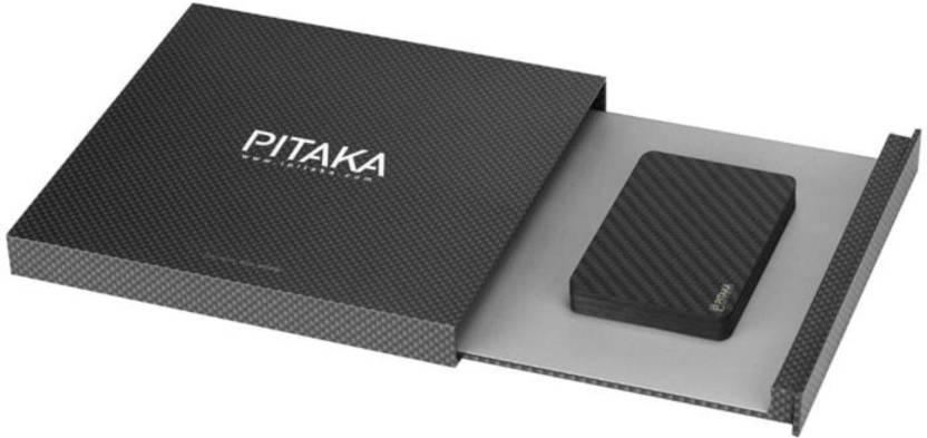 new concept 51cfd 293a0 Pitaka Men Black Carbon Fibre Card Holder Black - Price in India ...