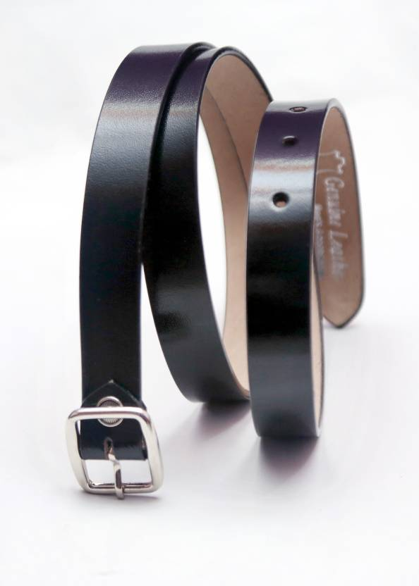 b000e54d4d7 inches pure leather Women Formal Black Genuine Leather Belt 164  - Price in  India