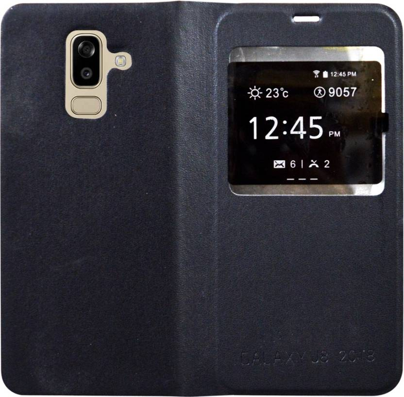 separation shoes b9b6d 8c512 COVERBLACK Flip Cover for Samsung Galaxy A6 Plus (Galaxy A6+) ...
