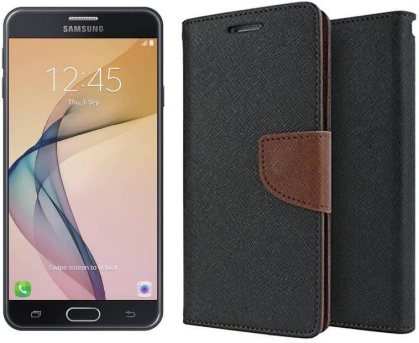 separation shoes a0a07 305d9 Unirock Wallet Case Cover for Samsung Galaxy J5 Prime (Black, 16 GB ...