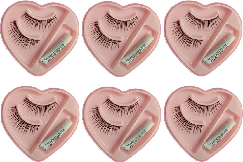Cartking False Fake Eyelashes With Glue Set Natural 6 Price In