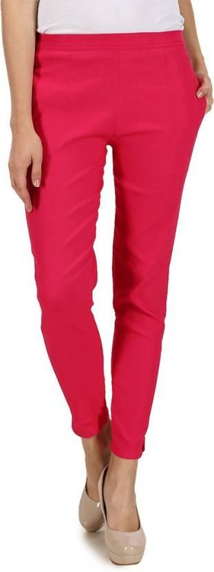 Kaaya Pink Jegging Solid Kaaya Women's Jeggings