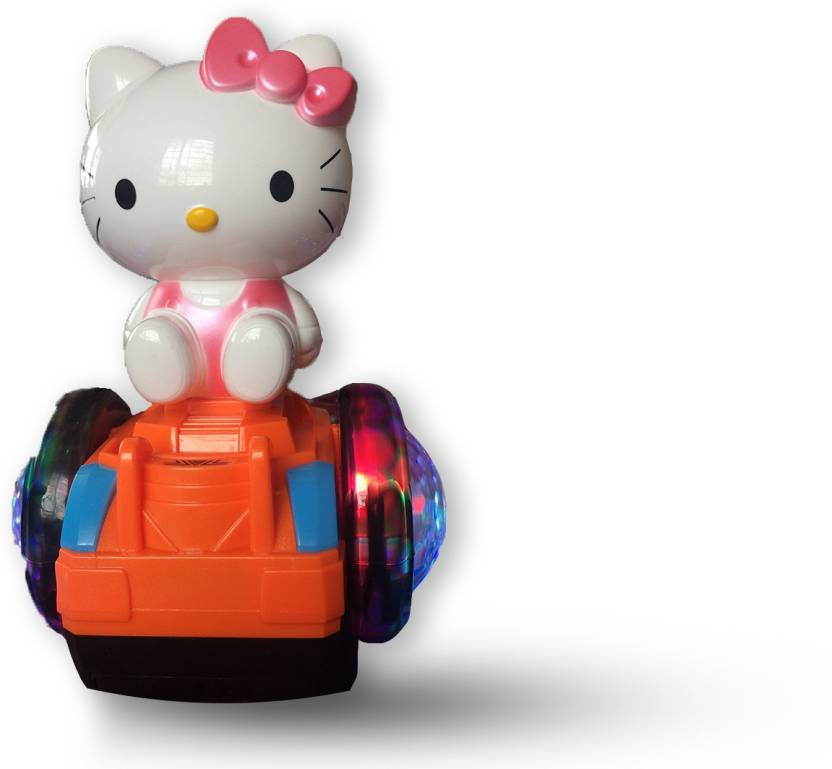 Toyvilla Cute Kitty Balance Cartoon Car Toy With Music And Multi