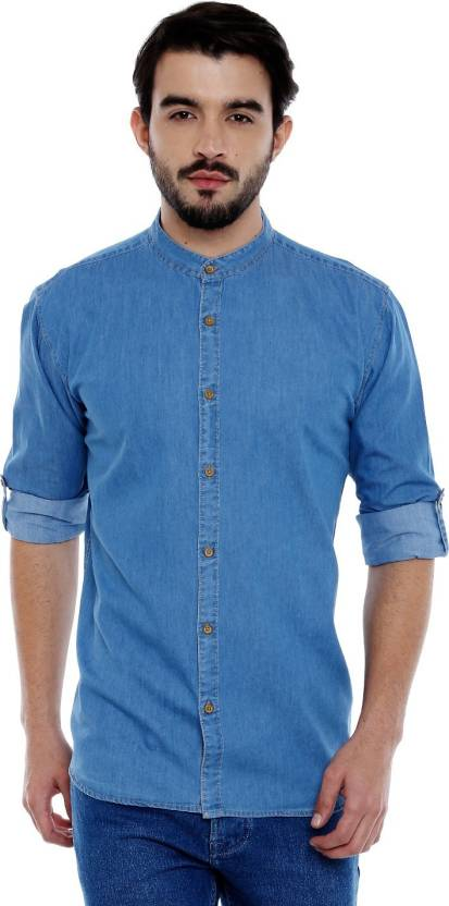 2c07095ab5ec Roller Fashions Men's Solid Casual Light Blue Shirt - Buy Light Blue Roller  Fashions Men's Solid Casual Light Blue Shirt Online at Best Prices in India  ...