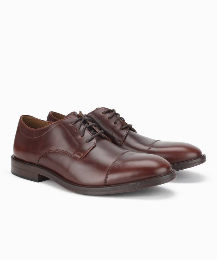 465247f1495 Bostonian Mckewen Cap Mahogany Leather Lace Up For Men - Buy ...
