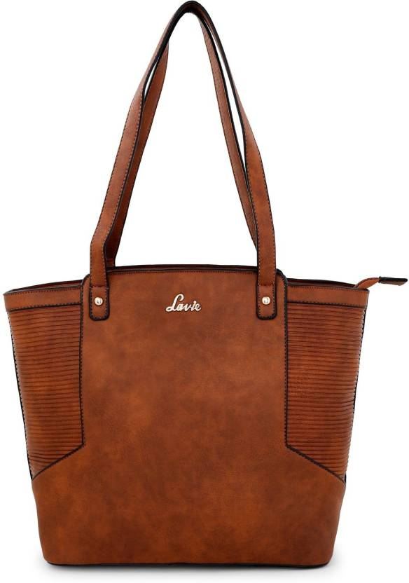 552e1de2f28 Lavie Women Evening Party Brown Genuine Leather Tote Brown - Price in India