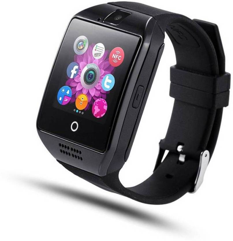 f1237238f01 Liddu Certified Touch Screen Bluetooth Mobile Phone Wrist Watch with Camera    SIM Card Support Black Smartwatch (Black Strap Free Size)