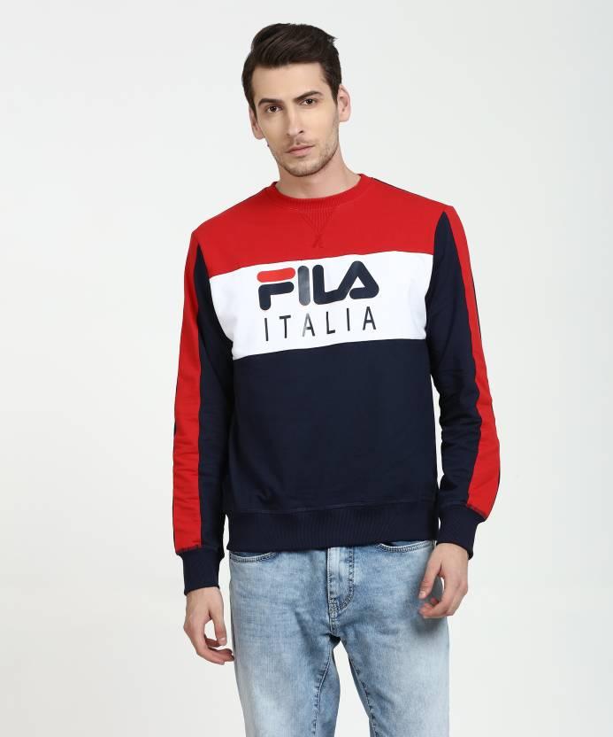 b4e35e665552 Fila Full Sleeve Printed, Colorblock Men Sweatshirt - Buy Fila Full Sleeve  Printed, Colorblock Men Sweatshirt Online at Best Prices in India |  Flipkart.com