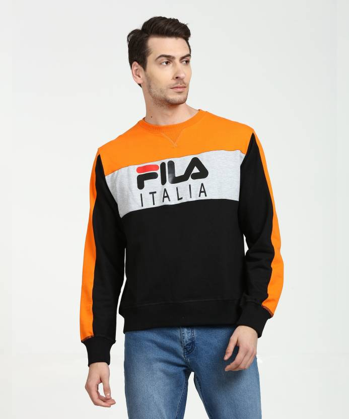 dfc2d2f4d3 Fila Full Sleeve Printed Men Sweatshirt - Buy Fila Full Sleeve ...
