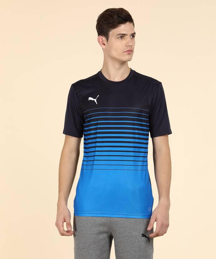 c05386a4f559 Puma Printed Men s Round Neck Blue T-Shirt - Buy Puma Printed Men s ...