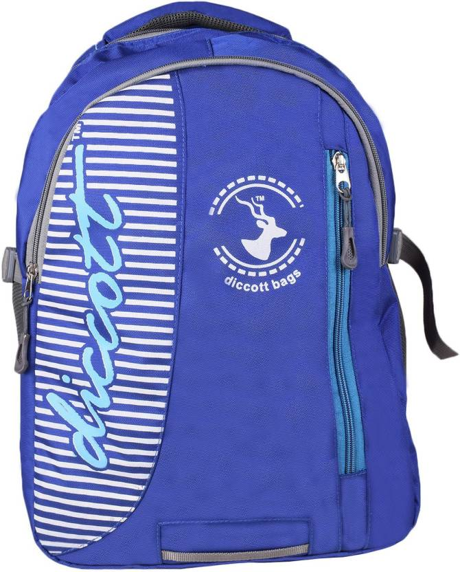 5eee303f5c55 Diccott Royal Blue Backpack For Boys And Girls 35 L Backpack Blue ...