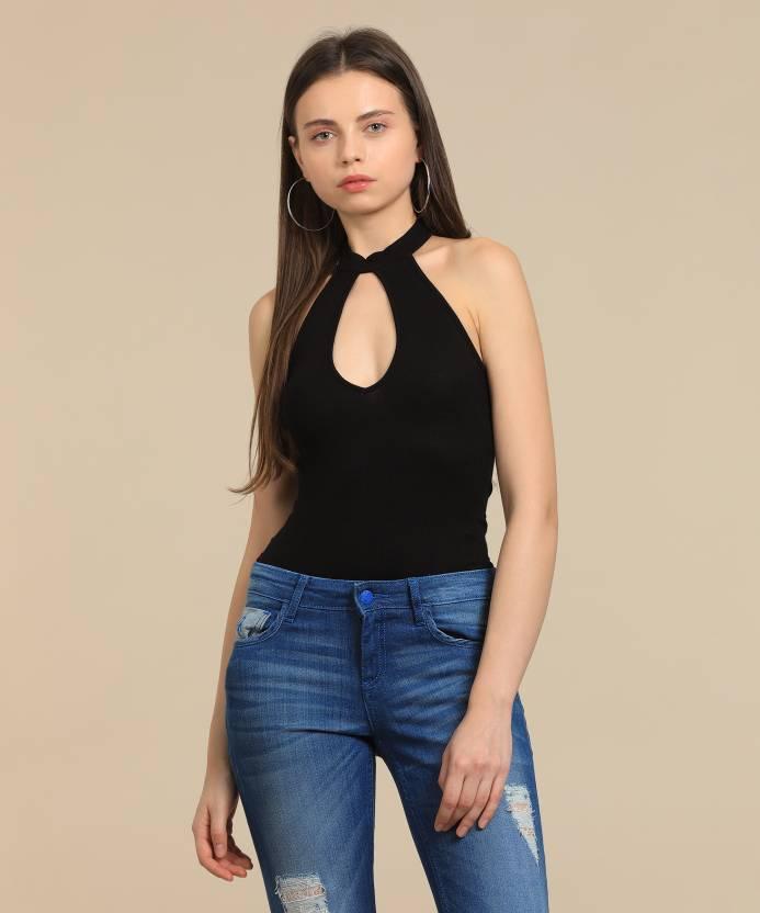 Forever 21 Women s Black Bodysuit - Buy BLACK Forever 21 Women s Black  Bodysuit Online at Best Prices in India  5ae56fbff