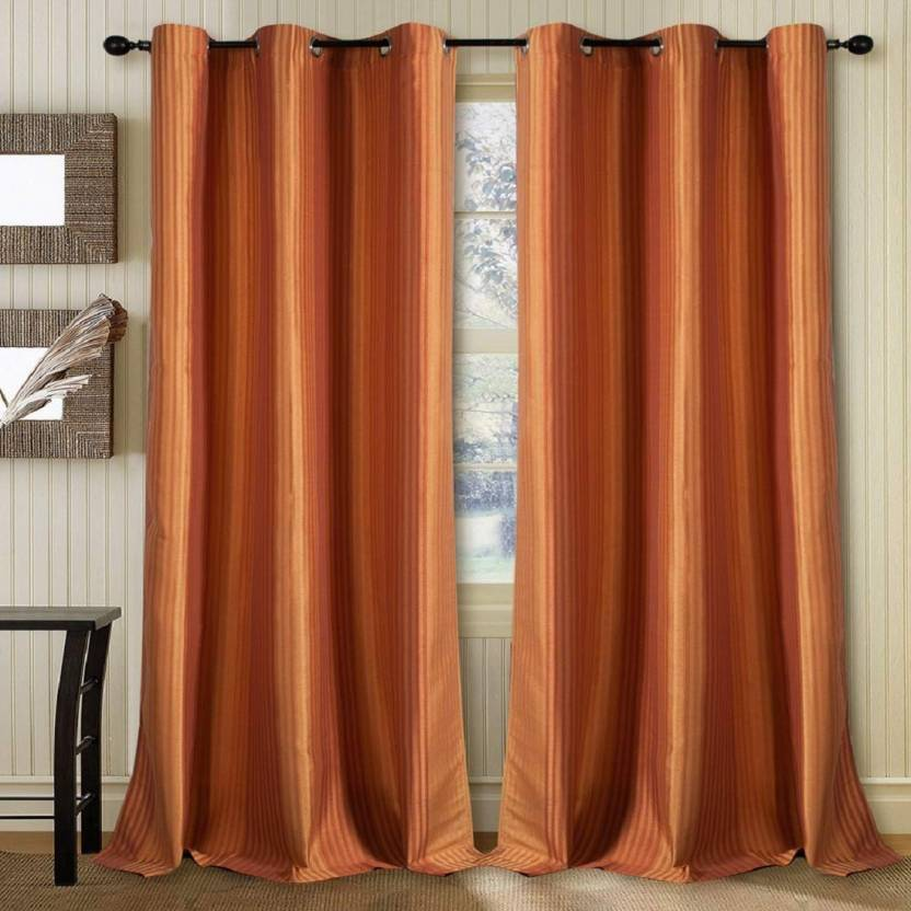 Deco Window 152 Cm 5 Ft Polyester Curtain Pack Of 2