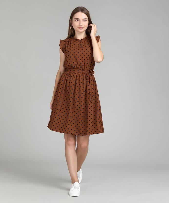 2ed9dd824c4 Tokyo Talkies Women s Fit and Flare Orange Dress - Buy Tokyo Talkies ...