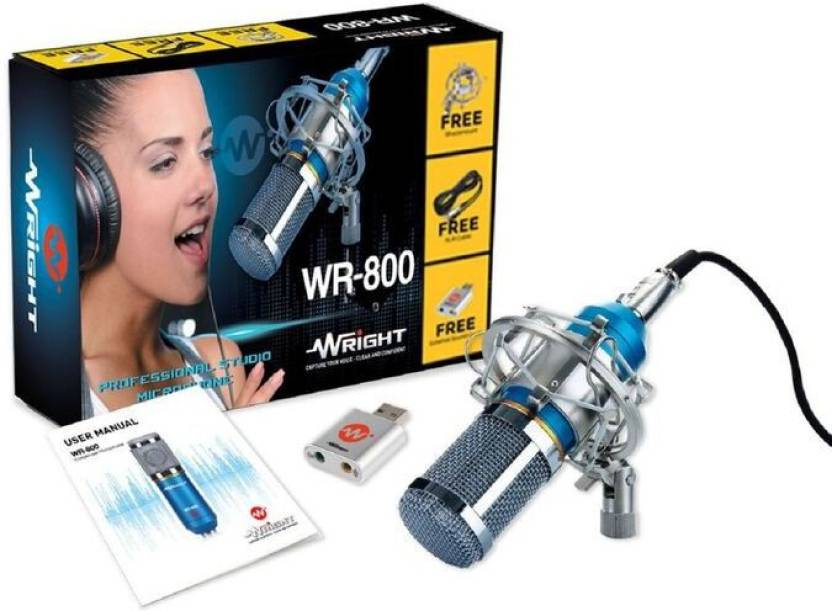 Wright Wr 800 Professional Studio Condenser Microphone For Singing