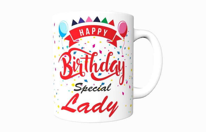 kpks print happy birthday special lady ceramic mug