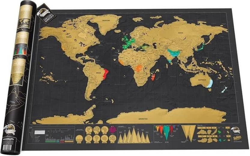 Deluxe travel scratch off personalized world map canvas art deluxe travel scratch off personalized world map canvas art gumiabroncs Image collections