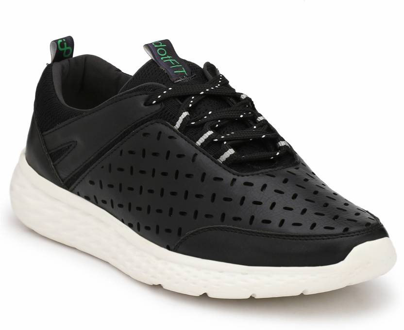 DotFit Black Atheisure Sneakers Casual Shoes Sneakers For Men