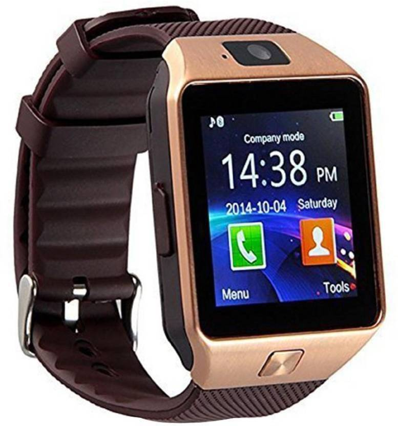 21d37a63ecc Lastpoint 4G 3G Smart Calling Mobile Watch Compatible With Android IOS  Smartwatch Smartwatch (Brown Strap Regular)