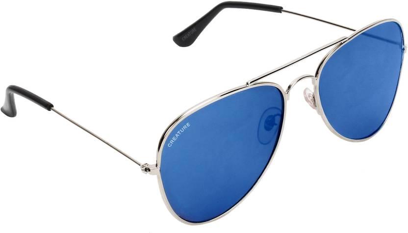 fa0205e331 Buy Creature Aviator Sunglasses Blue For Men   Women Online   Best ...