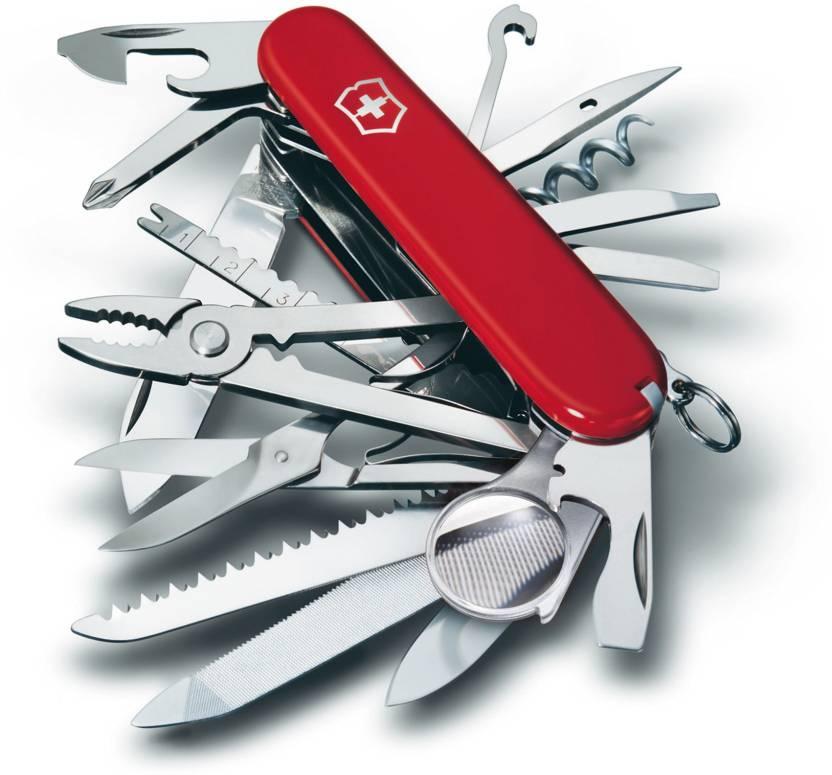 Victorinox 1.6795   Swiss Champ 33 Function Multi Utility Swiss Knife Red