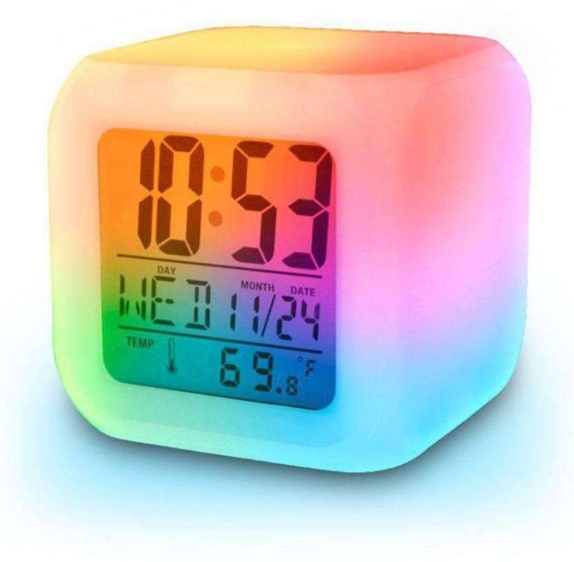 Starglare Digital Color Change Led Alarm Clock Calendar Temperature