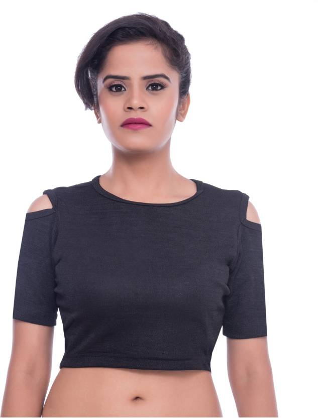 d966d1ca7f5 Looks Lane Casual Cold Shoulder Solid Women's Black Top - Buy Looks Lane  Casual Cold Shoulder Solid Women's Black Top Online at Best Prices in India  ...